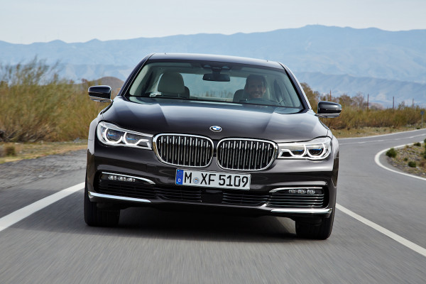 BMW 7 Series on the road