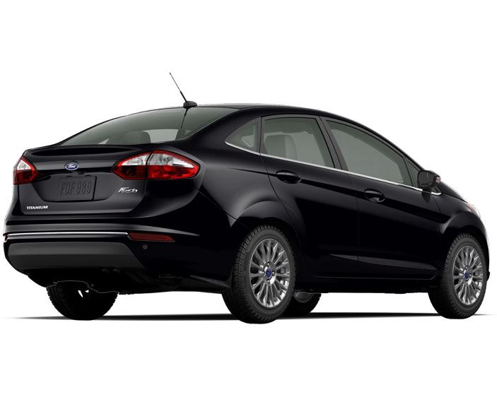 2016 Ford Fiesta Titanium Sedan Shadow Black Back
