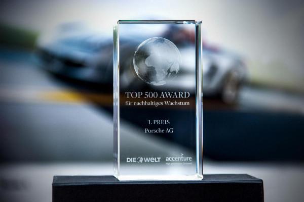 Top-500-Award, Porsche AG, 2015 © Dr. Ing. h.c. F. Porsche AG