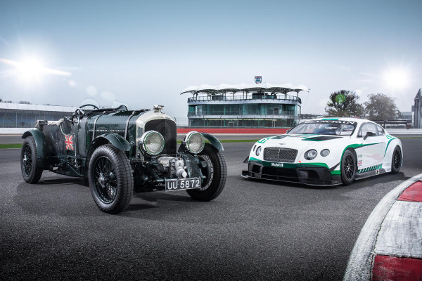 Generations of speed: Bentley Continental GT3 and the Birkin 'Blower' © Volkswagen Group
