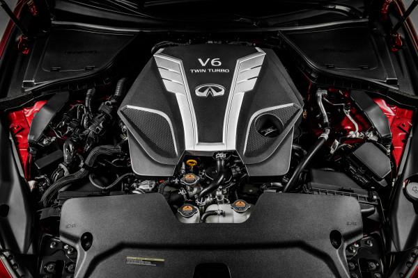 Infiniti's new 3.0-liter V6 twin-turbo engine © Nissan Motor Co., Ltd.