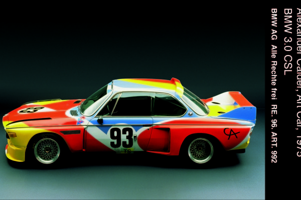 BMW 3.0 CSL painted by Alexander Calder in 1975; this was the first BMW Art Car created © BMW AG