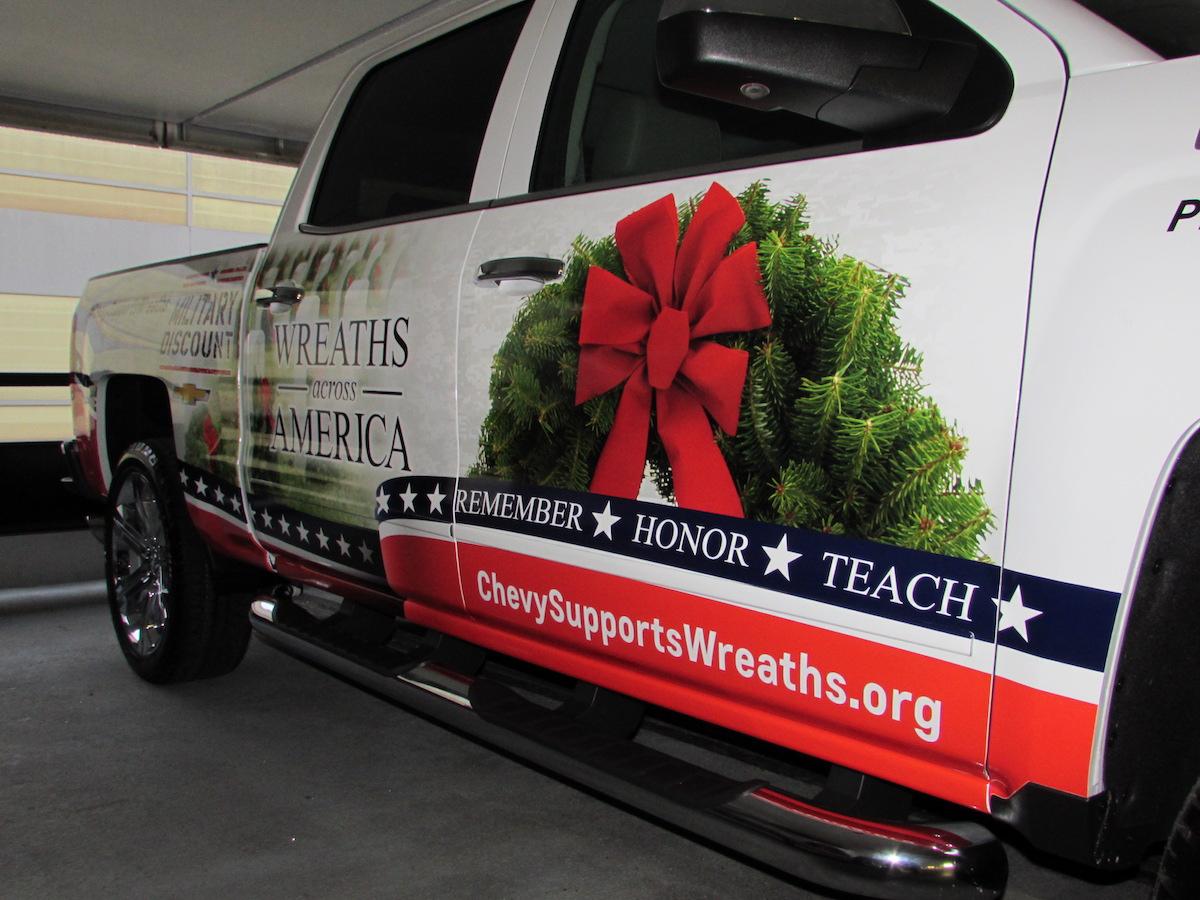 Chevrolet supports wreaths across america carrrs auto portal for General motors washington dc