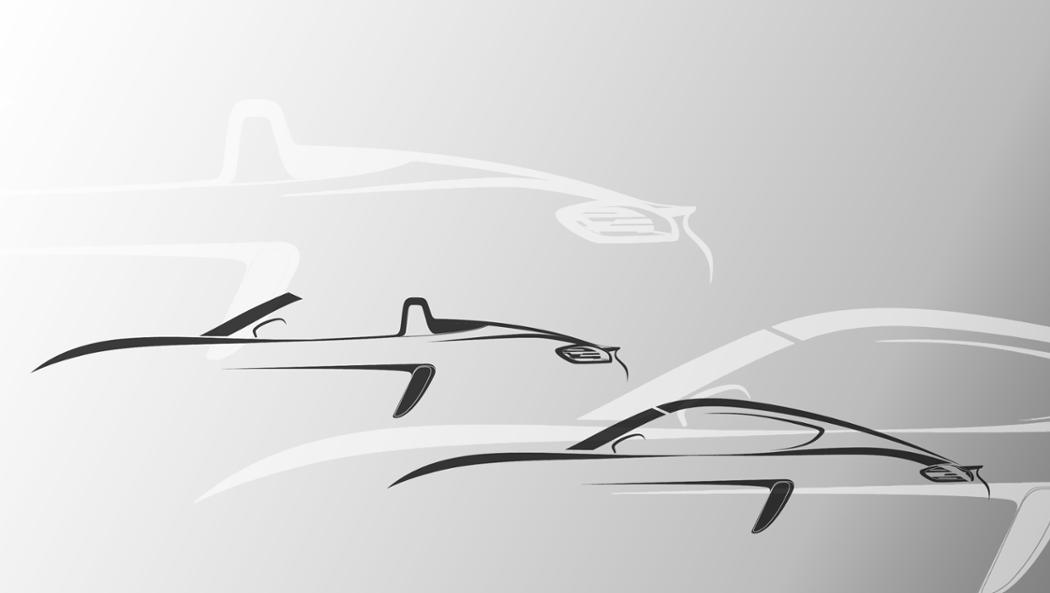 2015 Boxster and Cayman, silhouette © Dr. Ing. h.c. F. Porsche AG