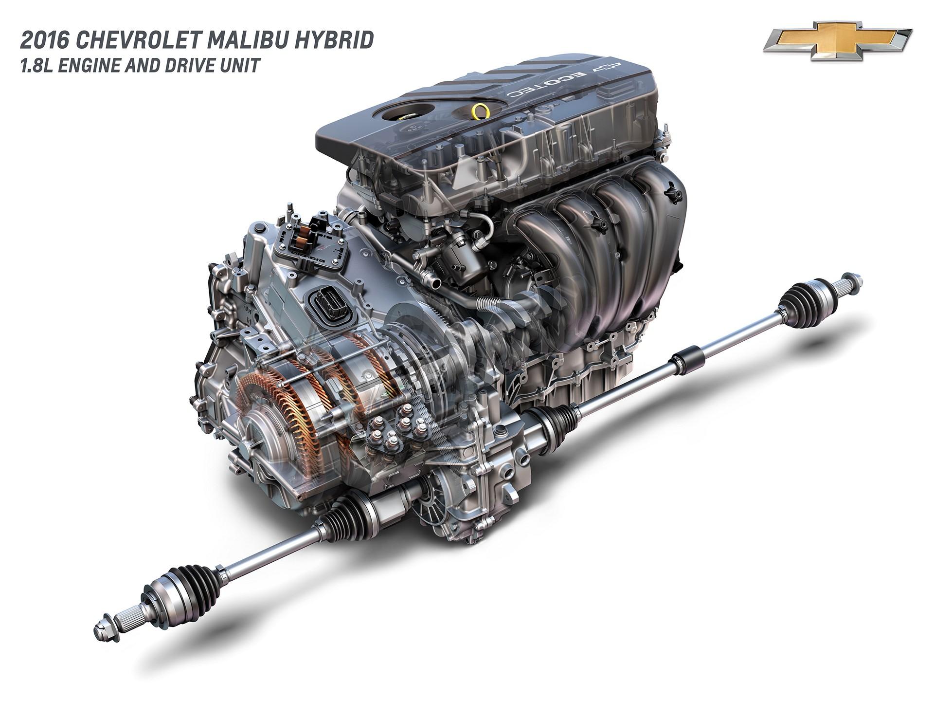 2016 Chevrolet Malibu Hybrid 1.8L Engine and Drive Unit © General Motors
