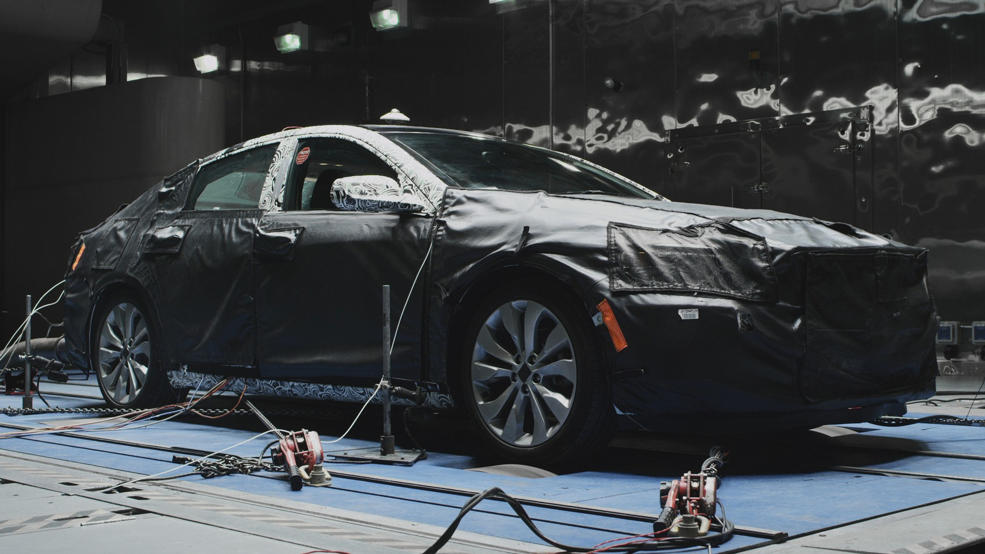 The all-new 2016 Chevrolet Malibu spent thousands of hours fine tuning its cooling systems in the Climatic Wind Tunnel as part of its extensive testing before it goes on sale in late 2015 © General Motors