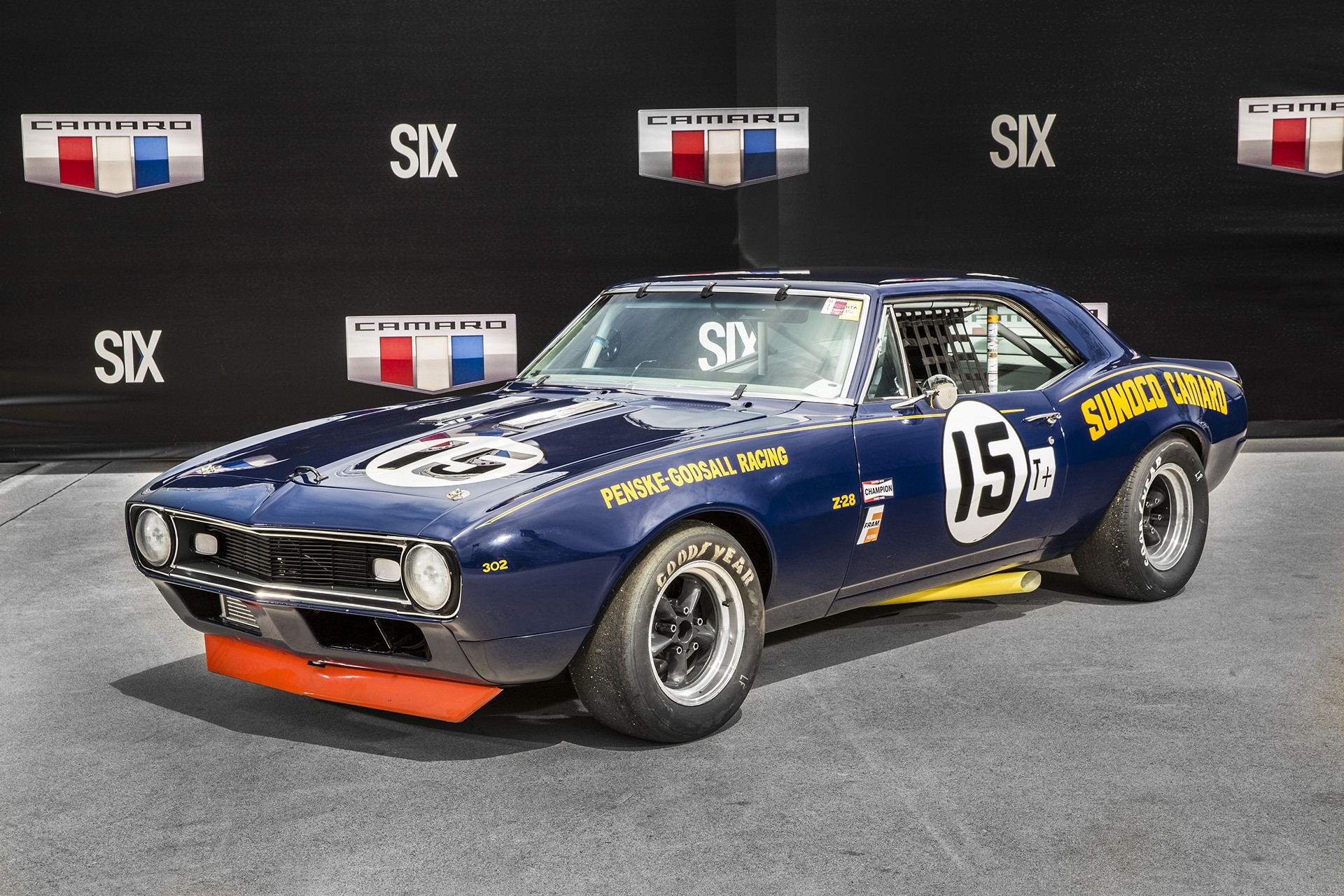 1967 1968 Chevrolet Camaro Z 28 Penske Sunoco Race Car General Motors Carrrs Auto Portal