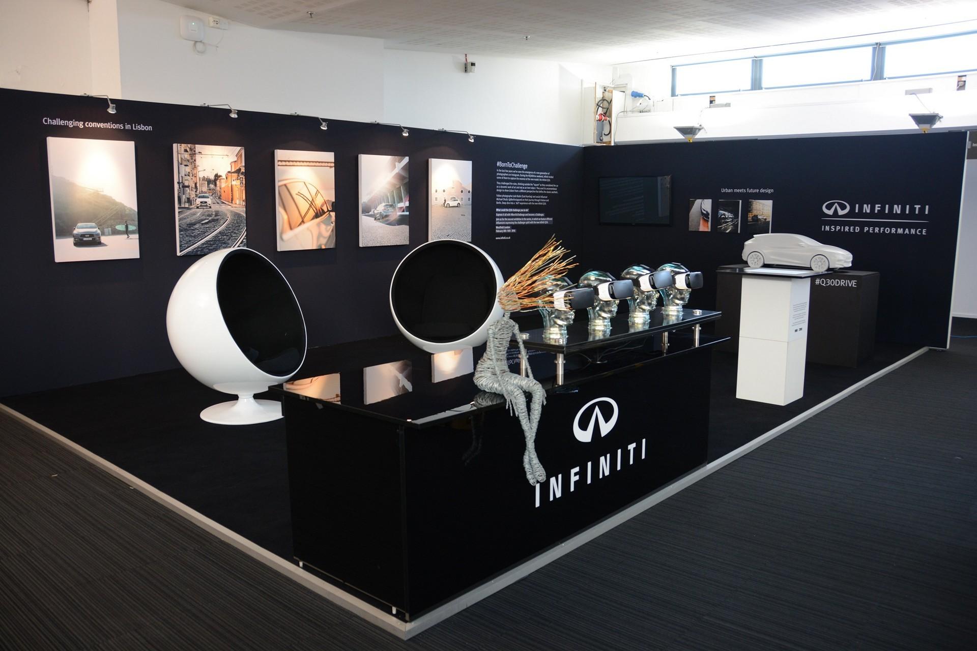 Infiniti QX30 car-art displayed at London Art Fair © Nissan Motor Co., Ltd.