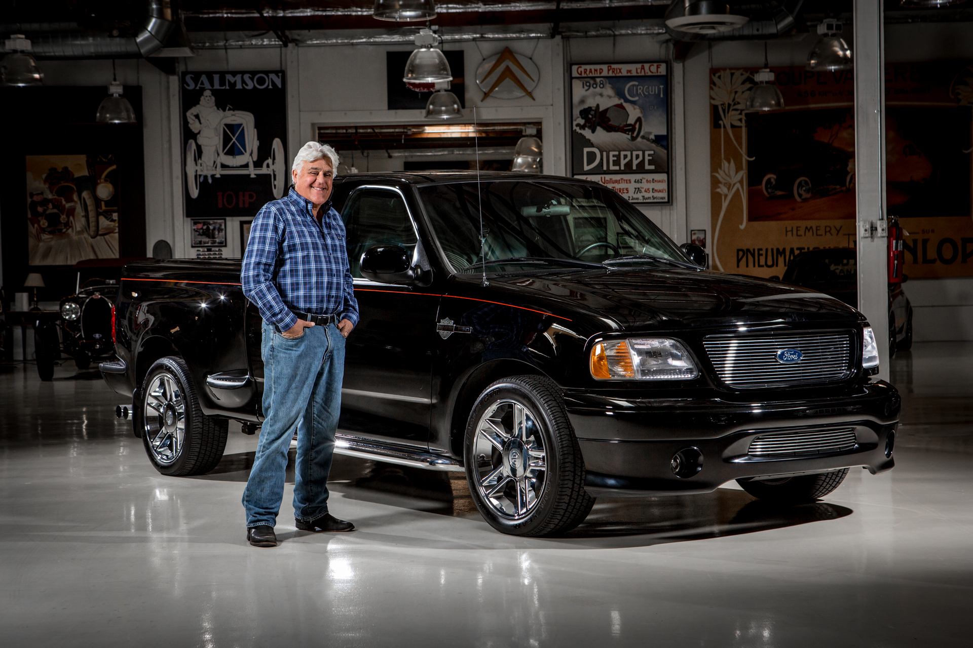 Ford And Jay Leno To Auction One Of A Kind Harley Davidson F 150 Benefit National Multiple Sclerosis Society