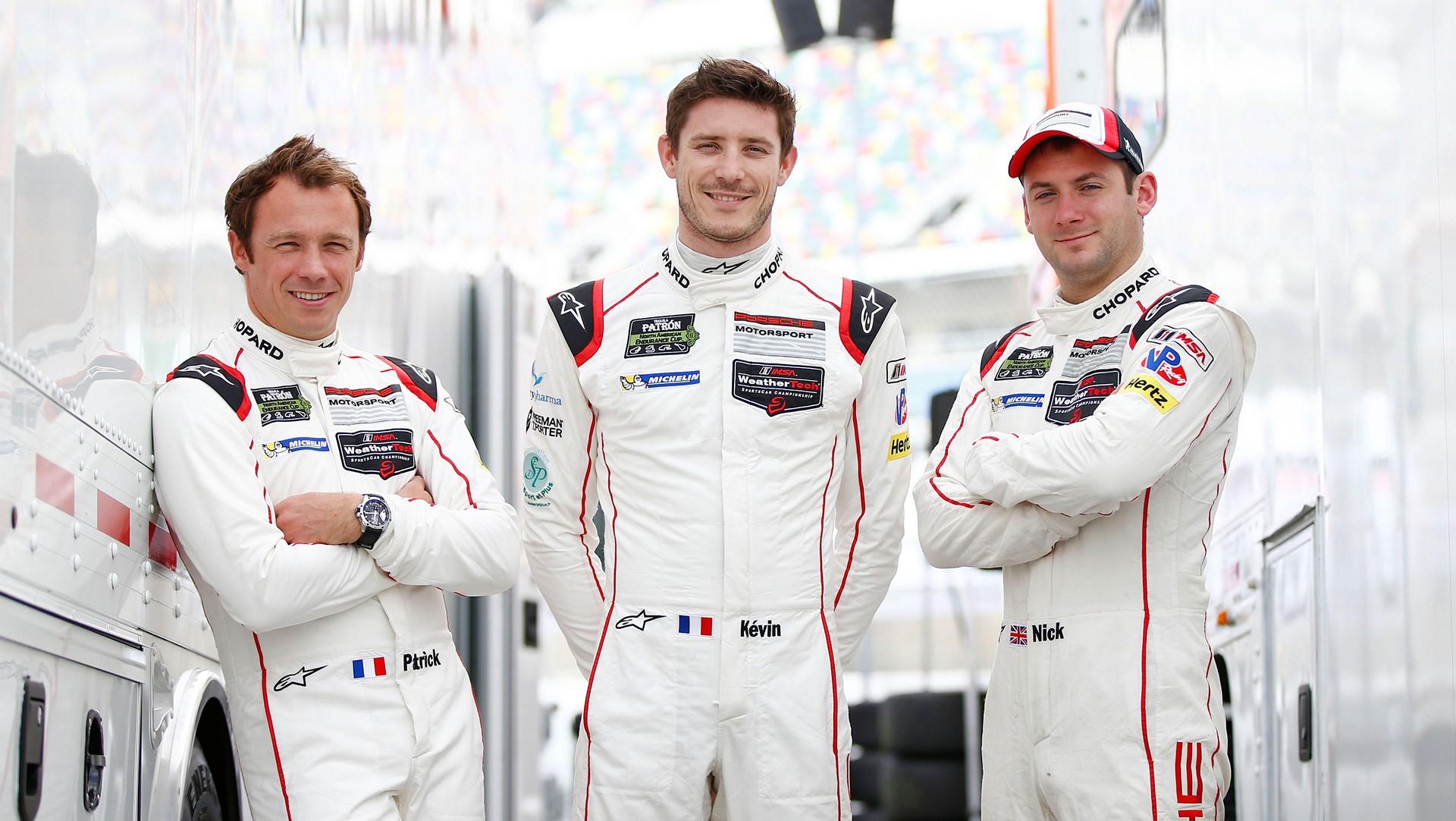 l-r Patrick Pilet, Kevin Estre, Nick Tandy, Daytona, IMSA WeatherTech SportsCar Championship © Dr. Ing. h.c. F. Porsche AG