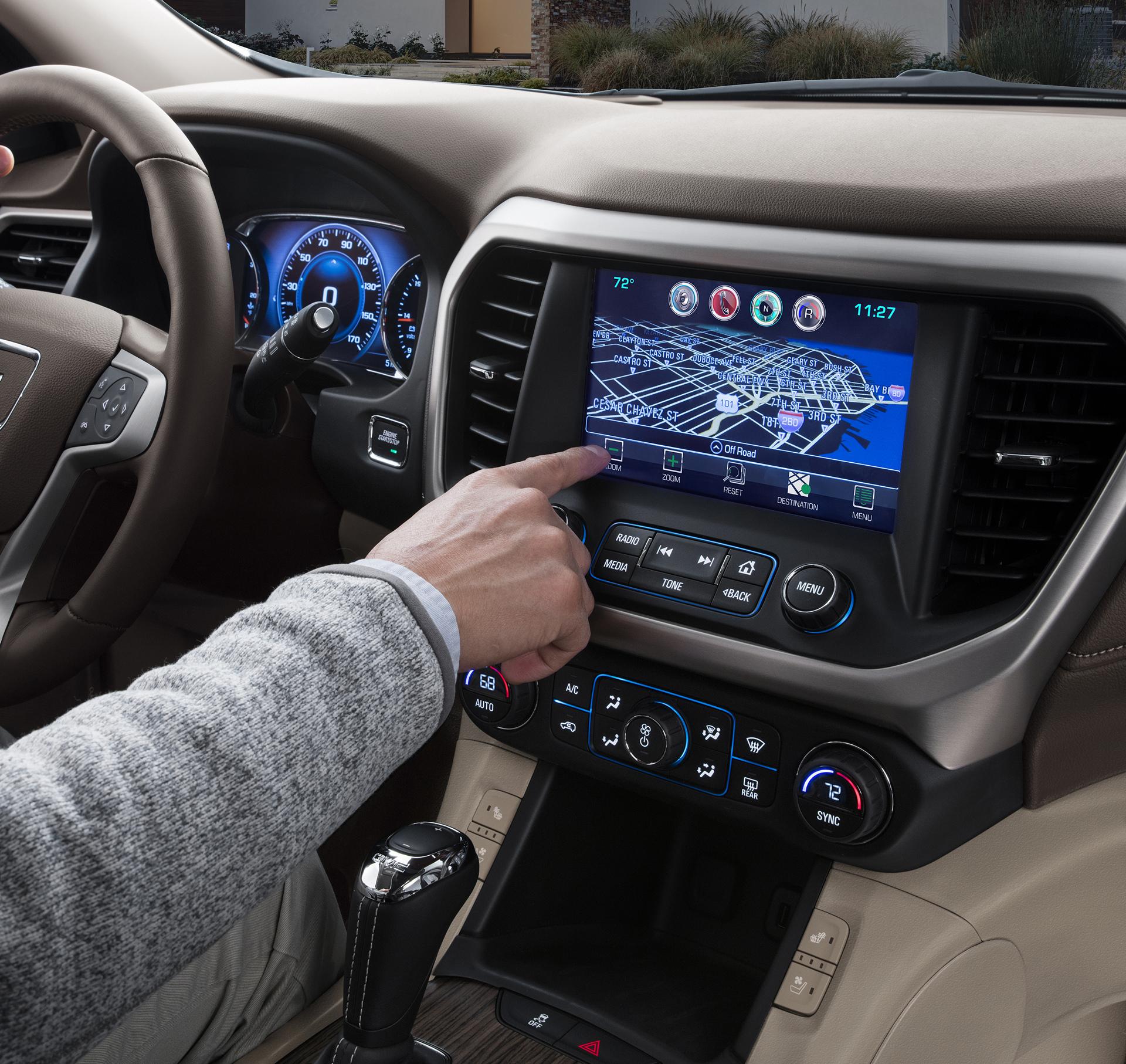 2017 Gmc Acadia Denali Infotainment C General Motors Carrrs Auto