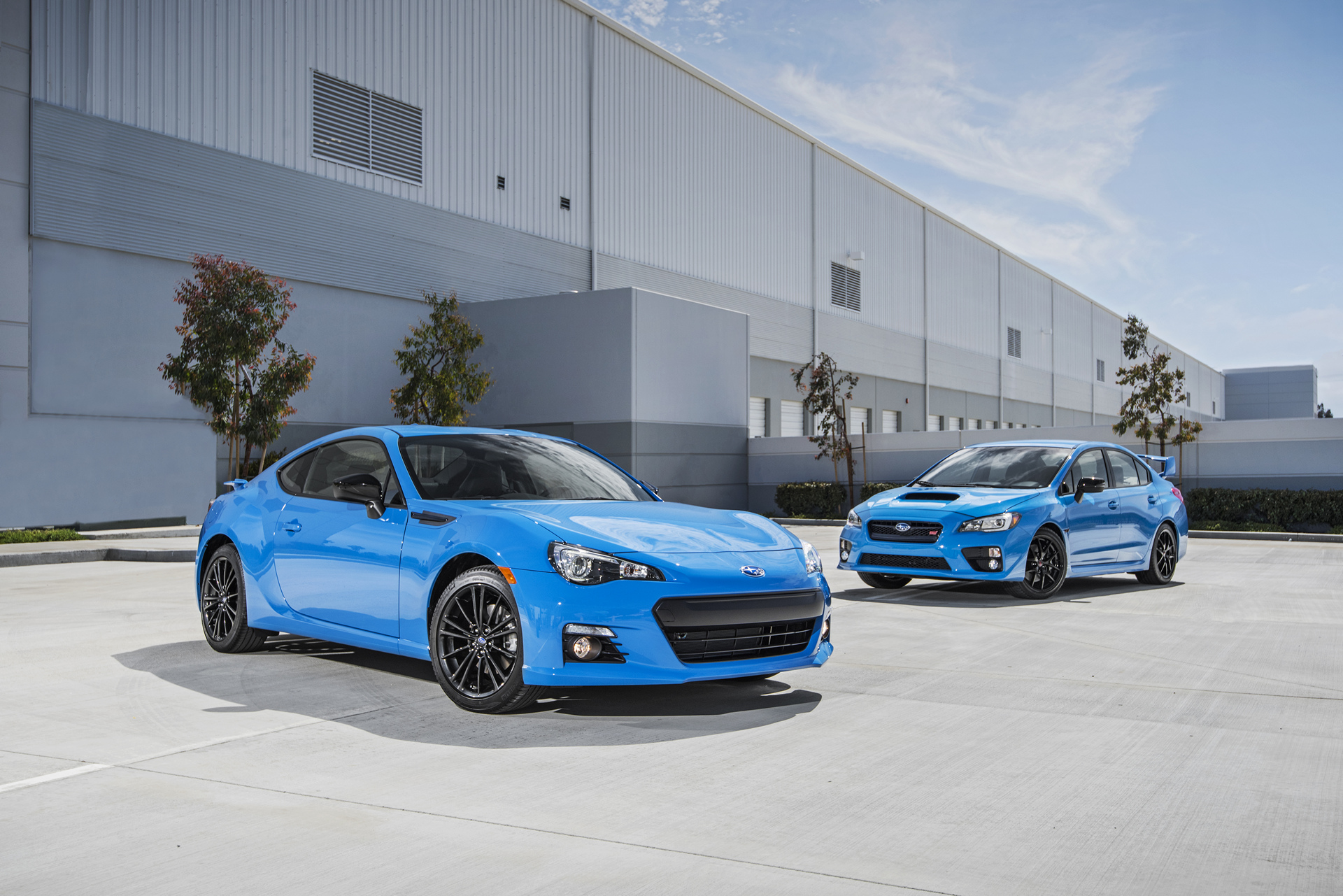 2016 Subaru BRZ Series.HyperBlue and 2016 Subaru WRX STI Series.HyperBlue © Fuji Heavy Industries, Ltd.