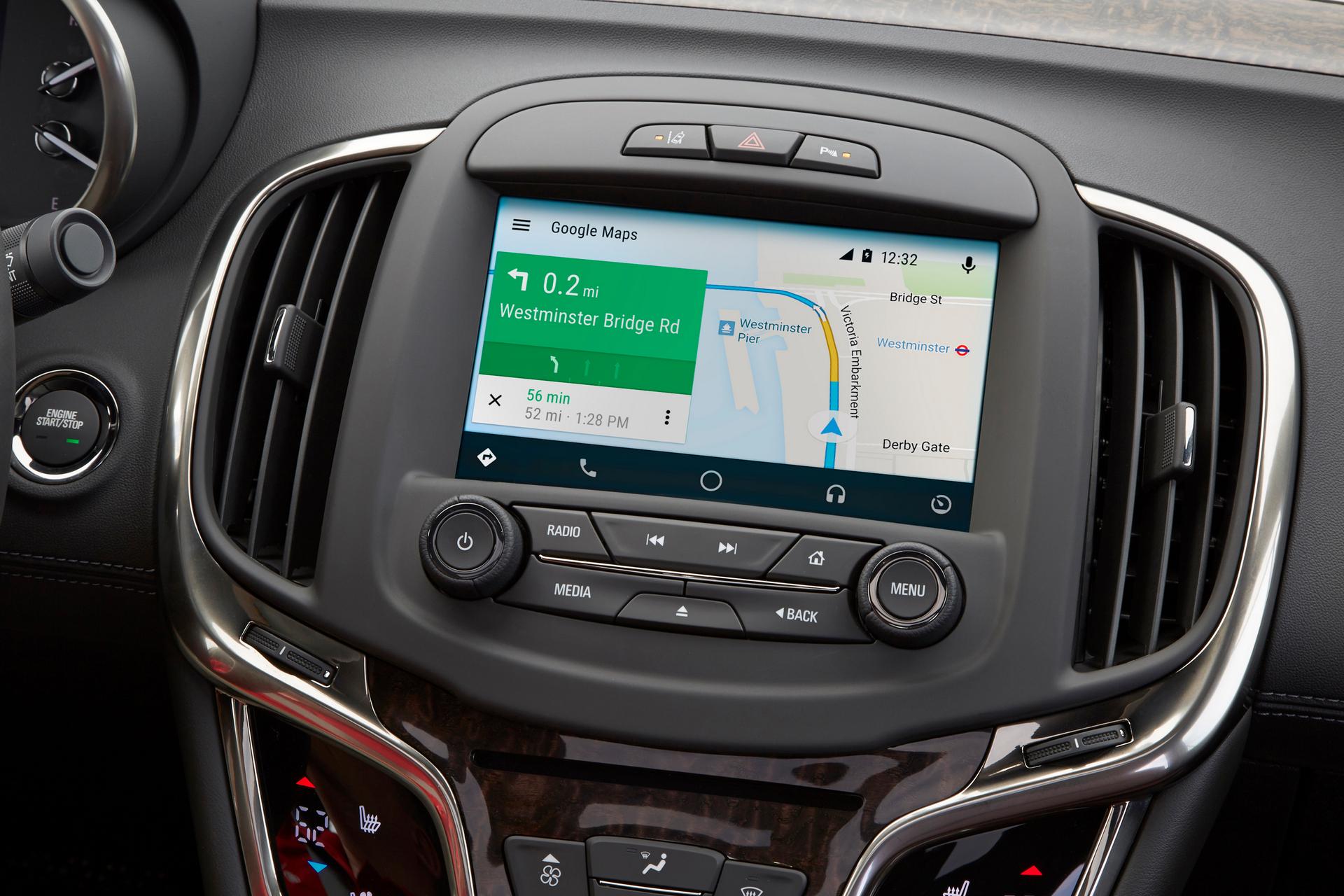 2016 Buick Regal, LaCrosse Get Android Auto Update © General Motors
