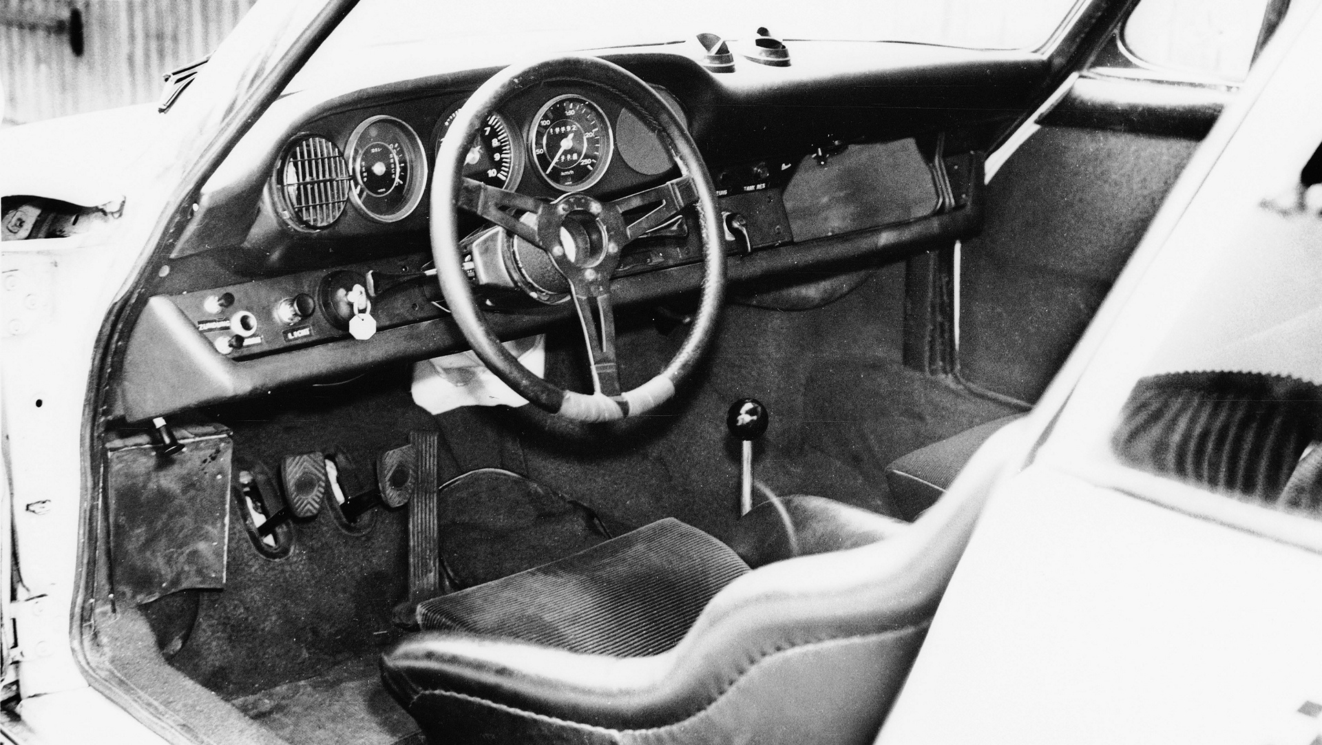 Interior of the 911 R, 1967 © Dr. Ing. h.c. F. Porsche AG