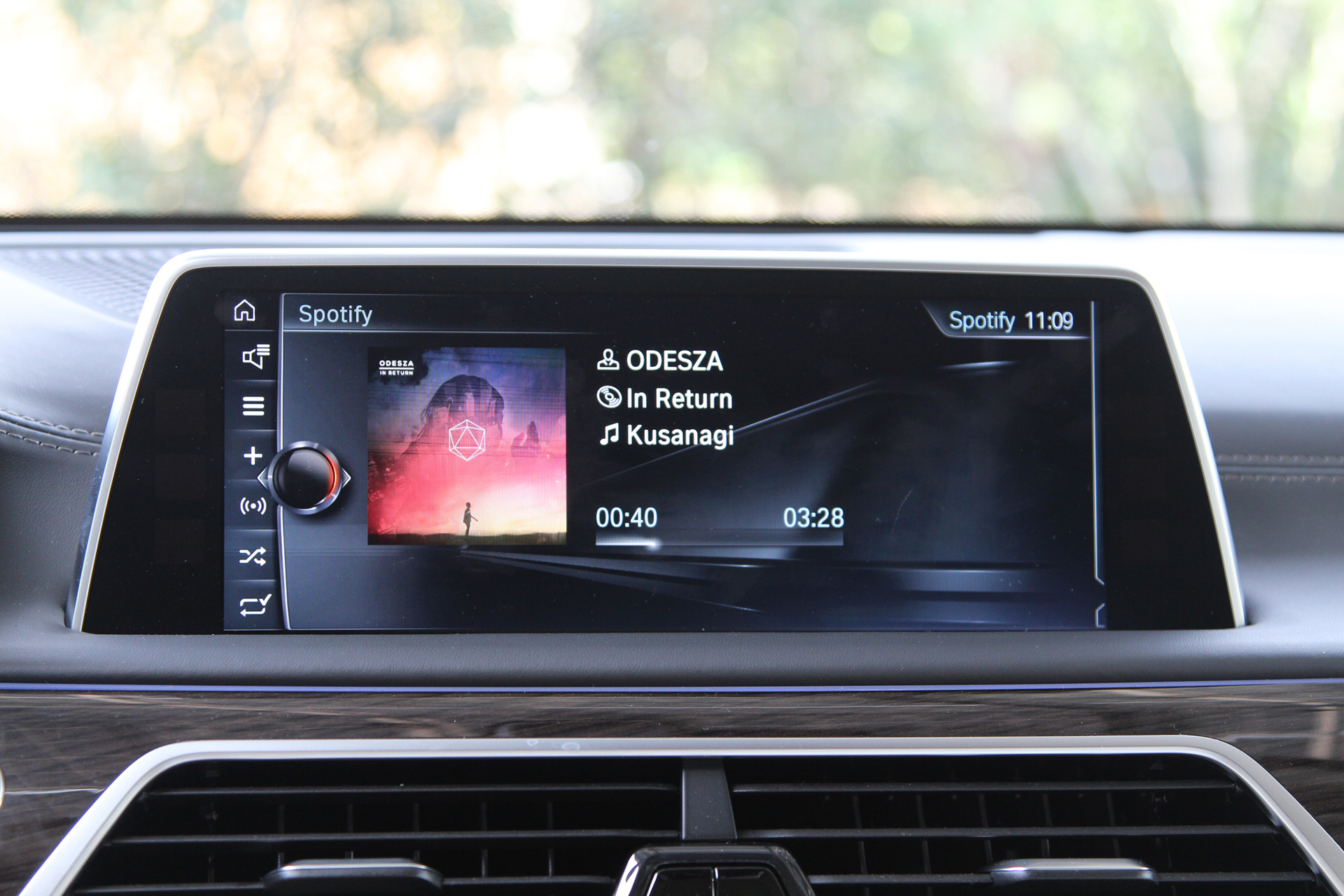 Spotify Integration for Android in the new BMW 7 Series © BMW AG