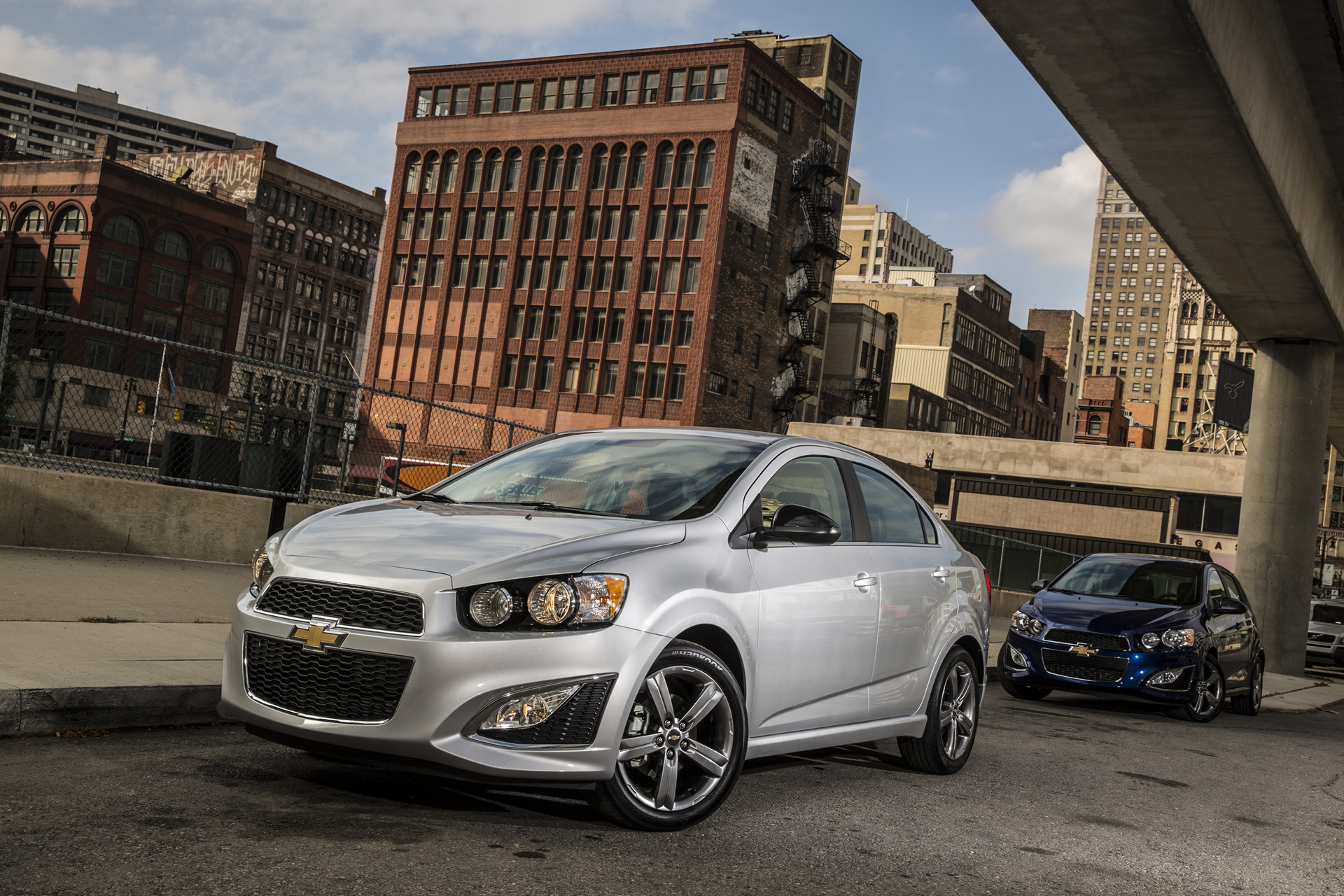 2016 Sonic RS Sedan (L to R) and Hatchback © General Motors