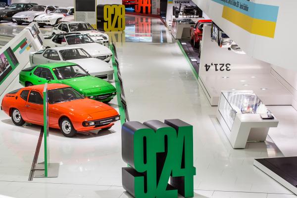 Special exhibit transaxle models, Porsche Museum © Dr. Ing. h.c. F. Porsche AG