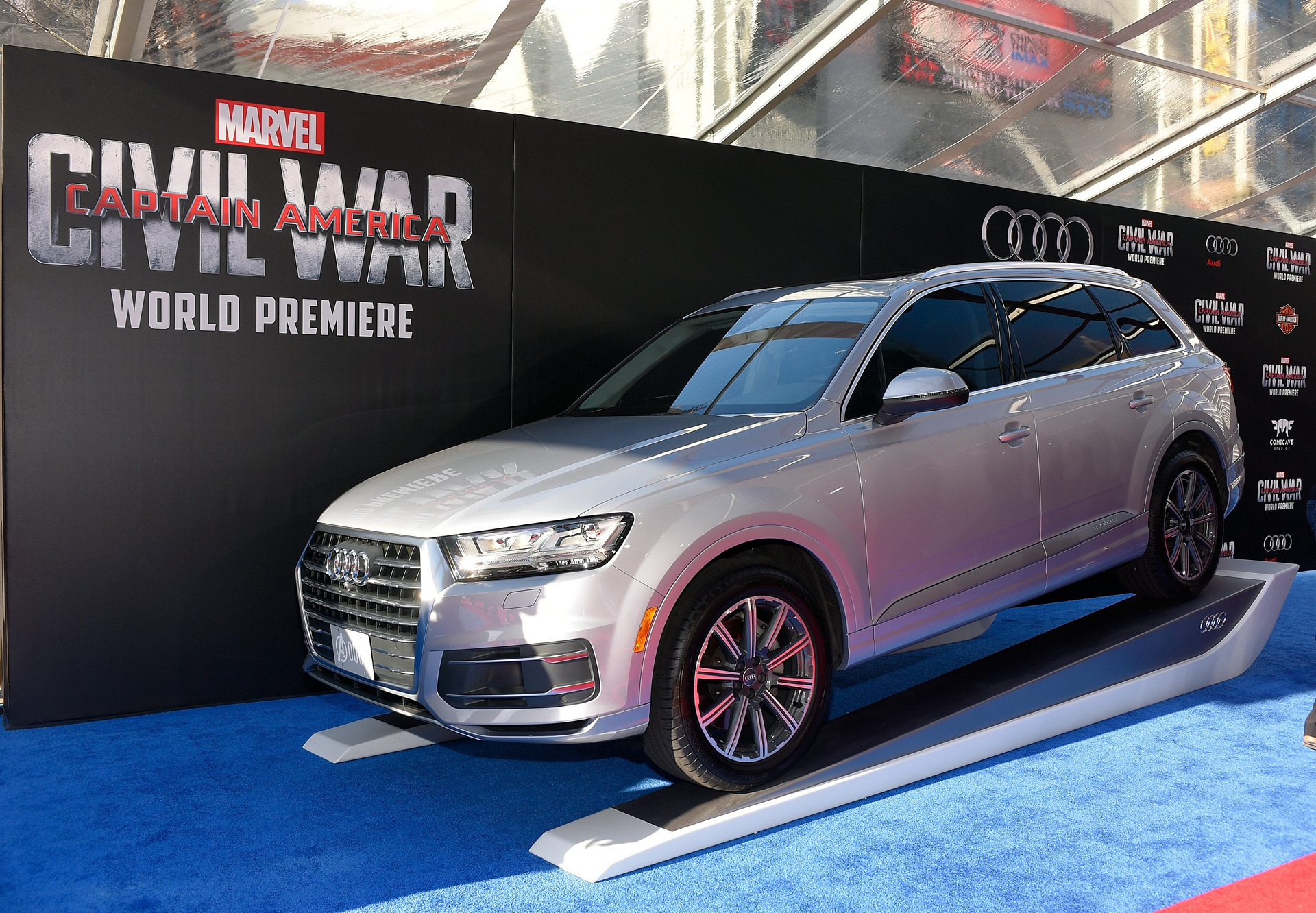 audi celebrates the premiere of captain america civil war