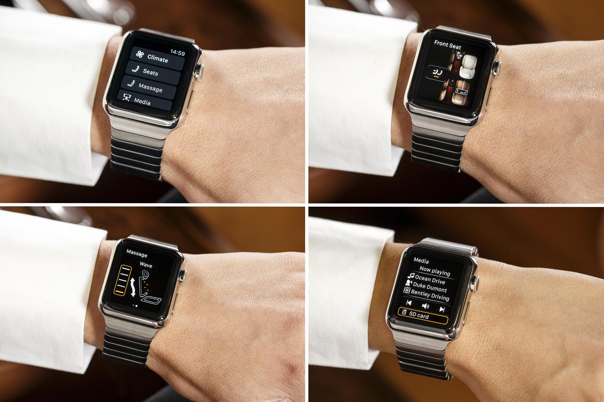 Bentley's New Bentayga Apple Watch App © Volkswagen AG