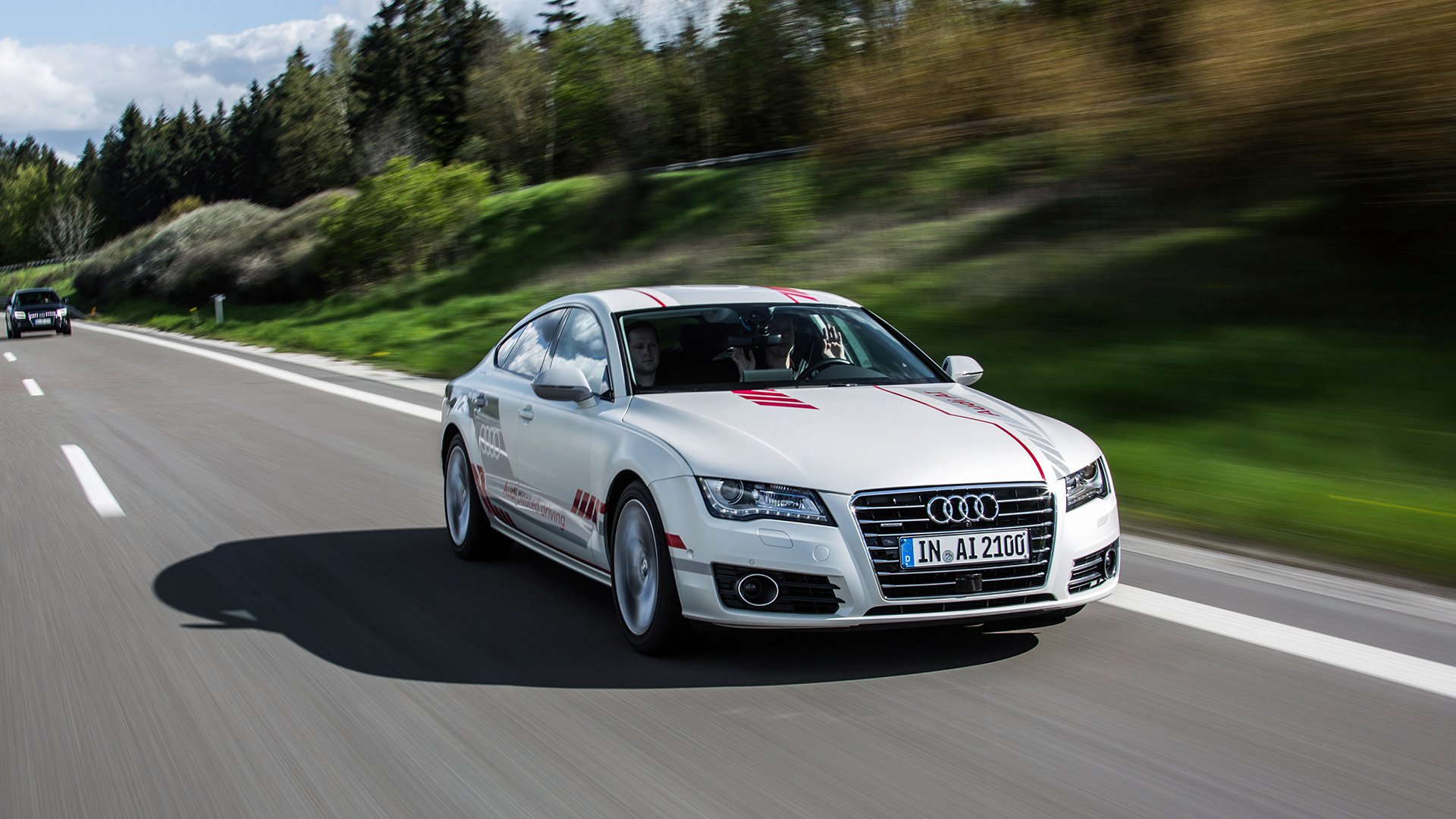 "Autobahn A9 Audi Research Car ""Jack"" Shows Social petence"