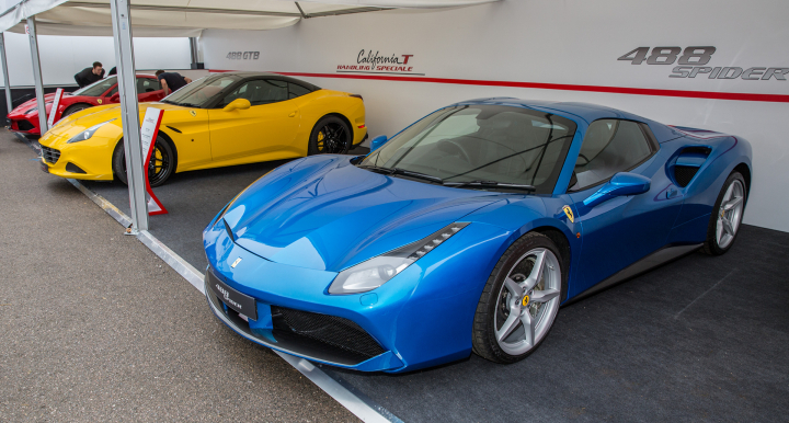 Goodwood Festival of Speed: Ferrari Cars on Display