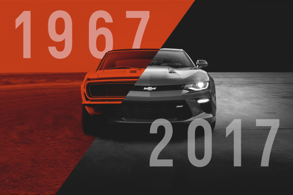 1967 and 2017 Chevrolet Camaro © General Motors