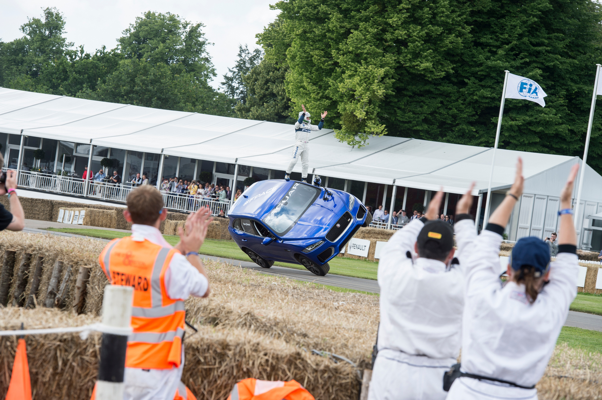 Jaguar F-Pace Thrills Goodwood with Dramatic Two-Wheeled Ride © Tata Group
