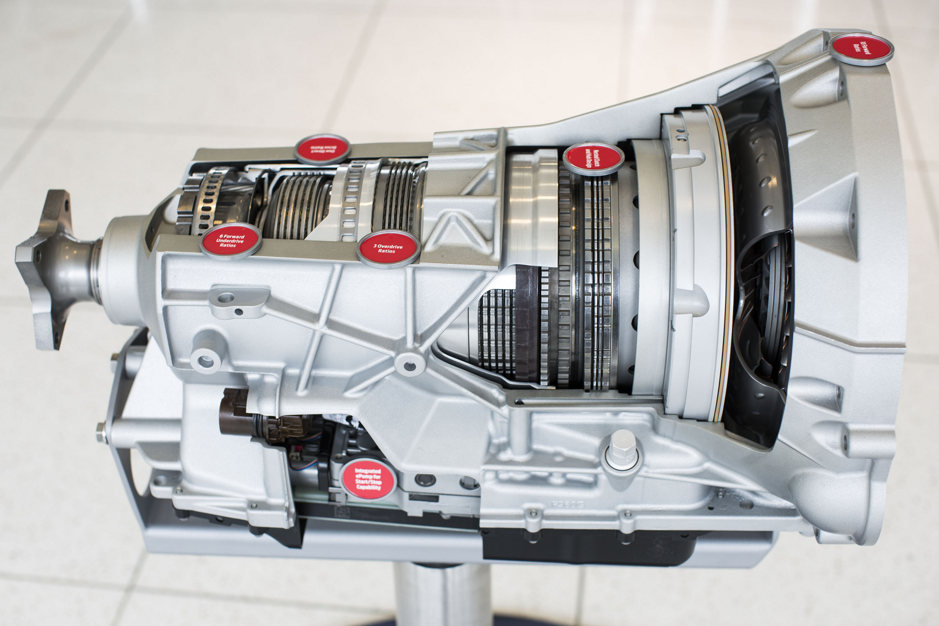 10-speed transmission close-up © Ford Motor Company