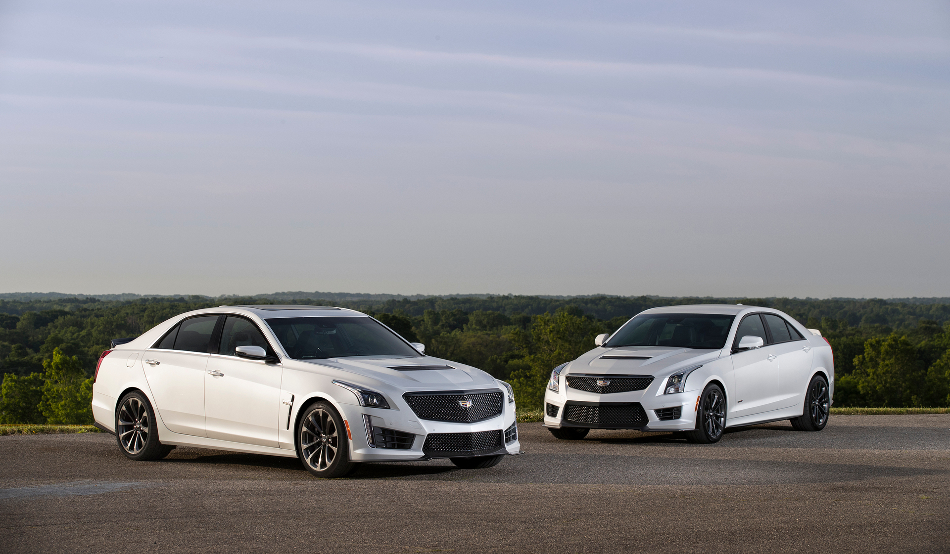 2017 Cadillac CTS-V super sedan and 2017 Cadillac ATS-V Sedan with the available Carbon Black sport package. The Carbon Black sport package – which includes the first-ever Black Chrome grille for V-Series models and the first-ever RECARO front seats for Cadillac ATS Sedan and Coupe models among additional exterior and interior appointments – further enhances the engaging performance and the striking design of Cadillac's driver's cars © General Motors