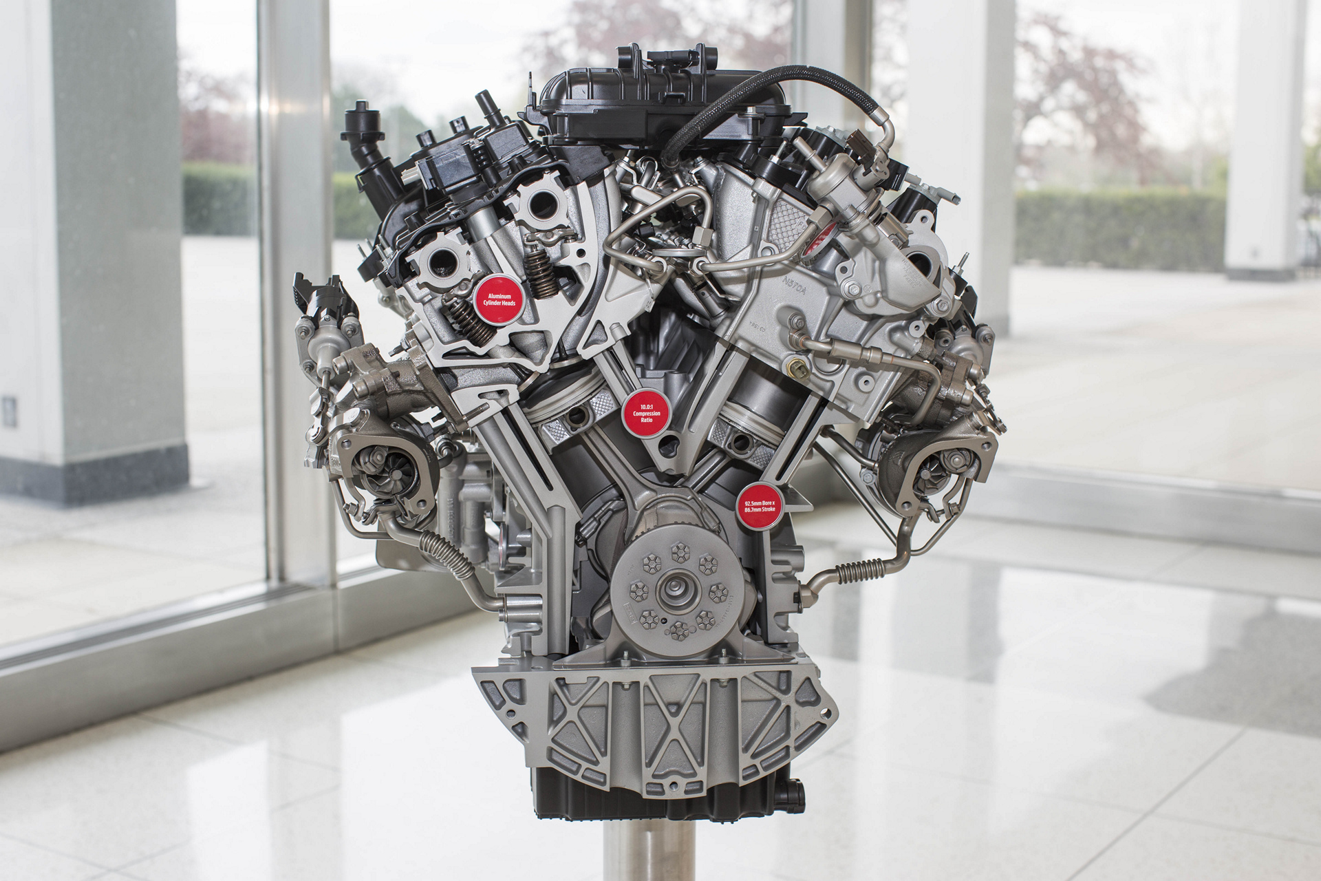 3.5 liter EcoBoost engine close up © Ford Motor Company