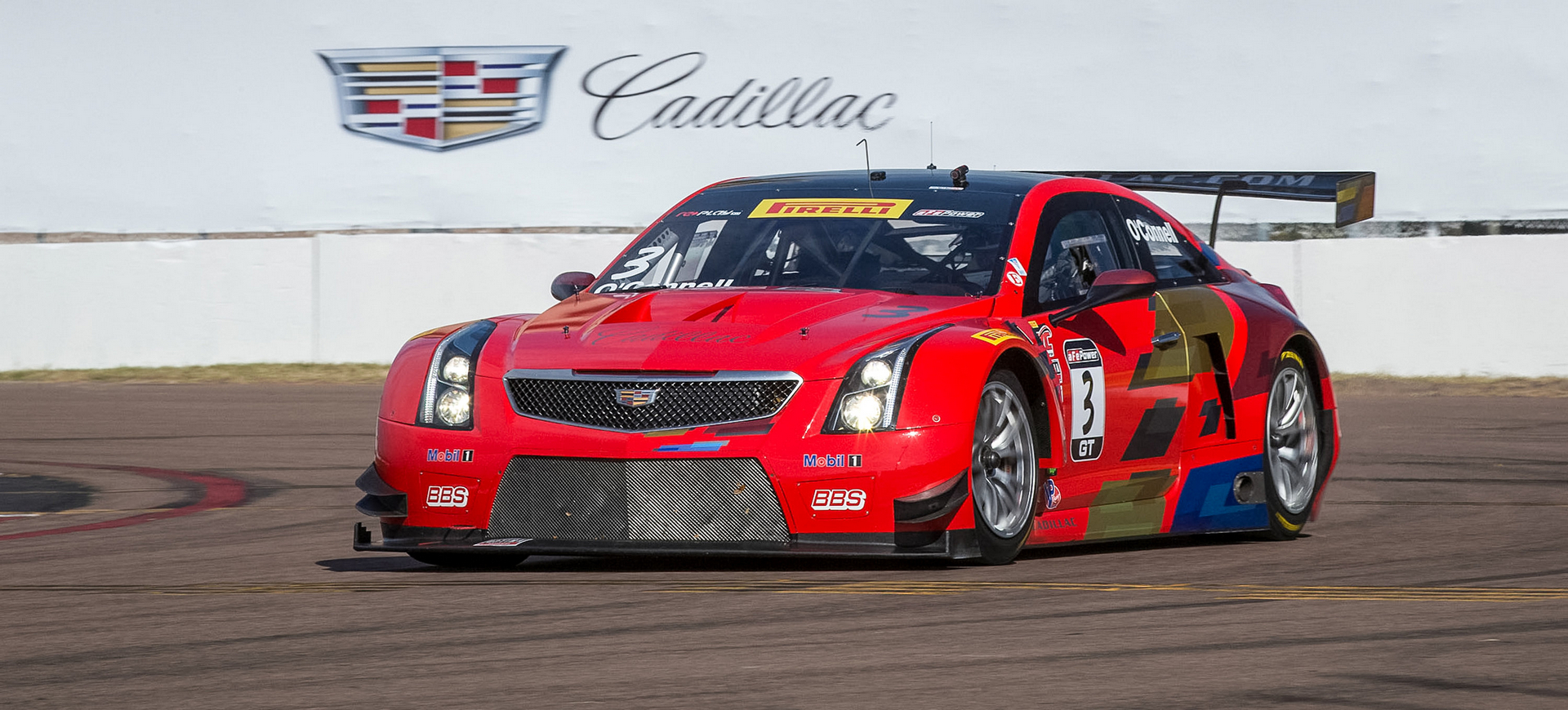 Johnny O'Connell, driver of the #3 Cadillac ATS-V.R qualifies third-fastest Friday, March 11, 2016 for the first of two weekend Pirelli World Challenge GT Series Championship Cadillac Grand Prix races through the streets of St. Petersburg in St. Petersburg, Florida. O'Connell will start the race from the second row. (Photo by Richard Prince for Cadillac Racing)