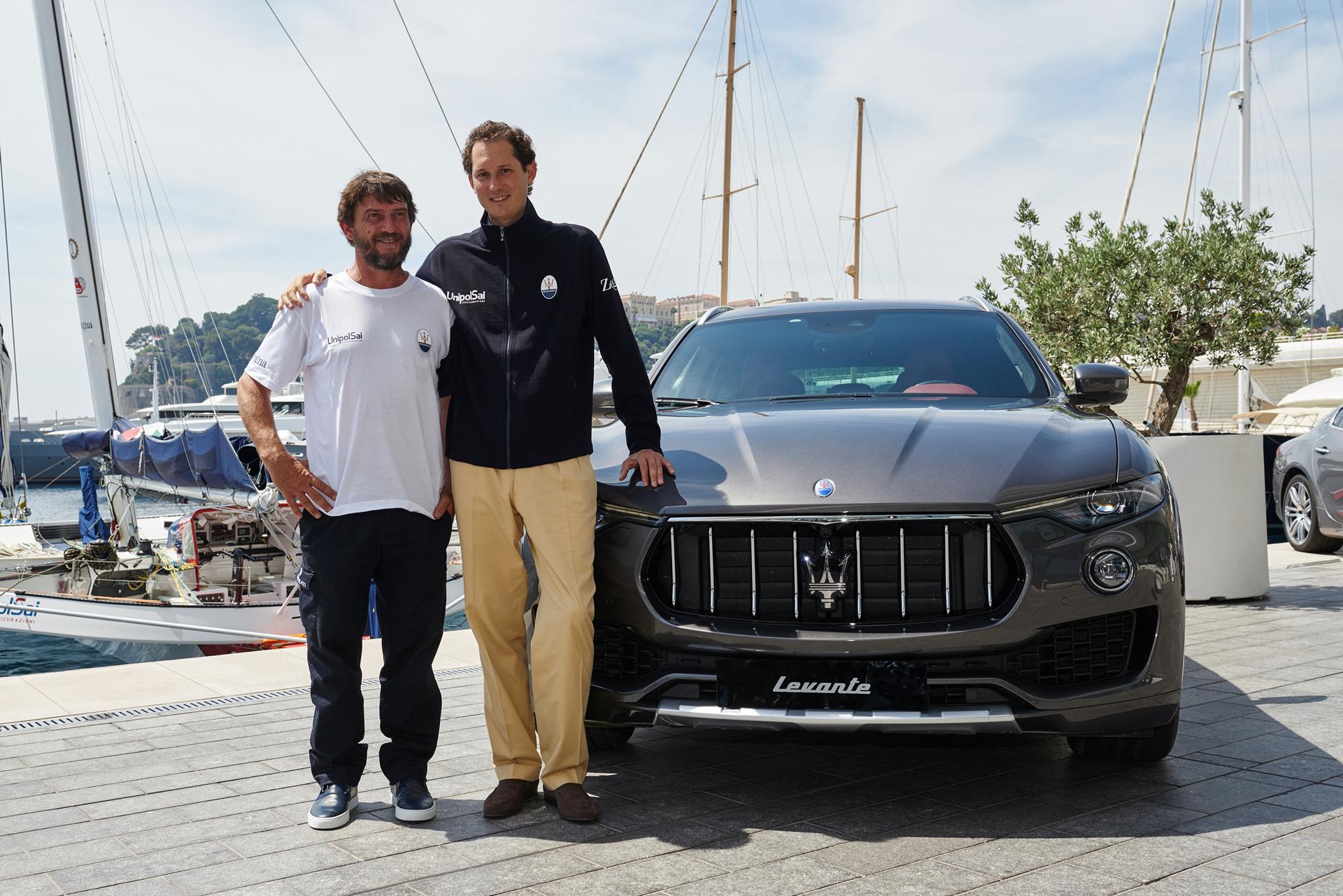 Maserati Multi70 Press Conference @Yacht Club de Monaco, Giovanni Soldini, John Elkann with Levante SUV © Fiat Chrysler Automobiles N.V.