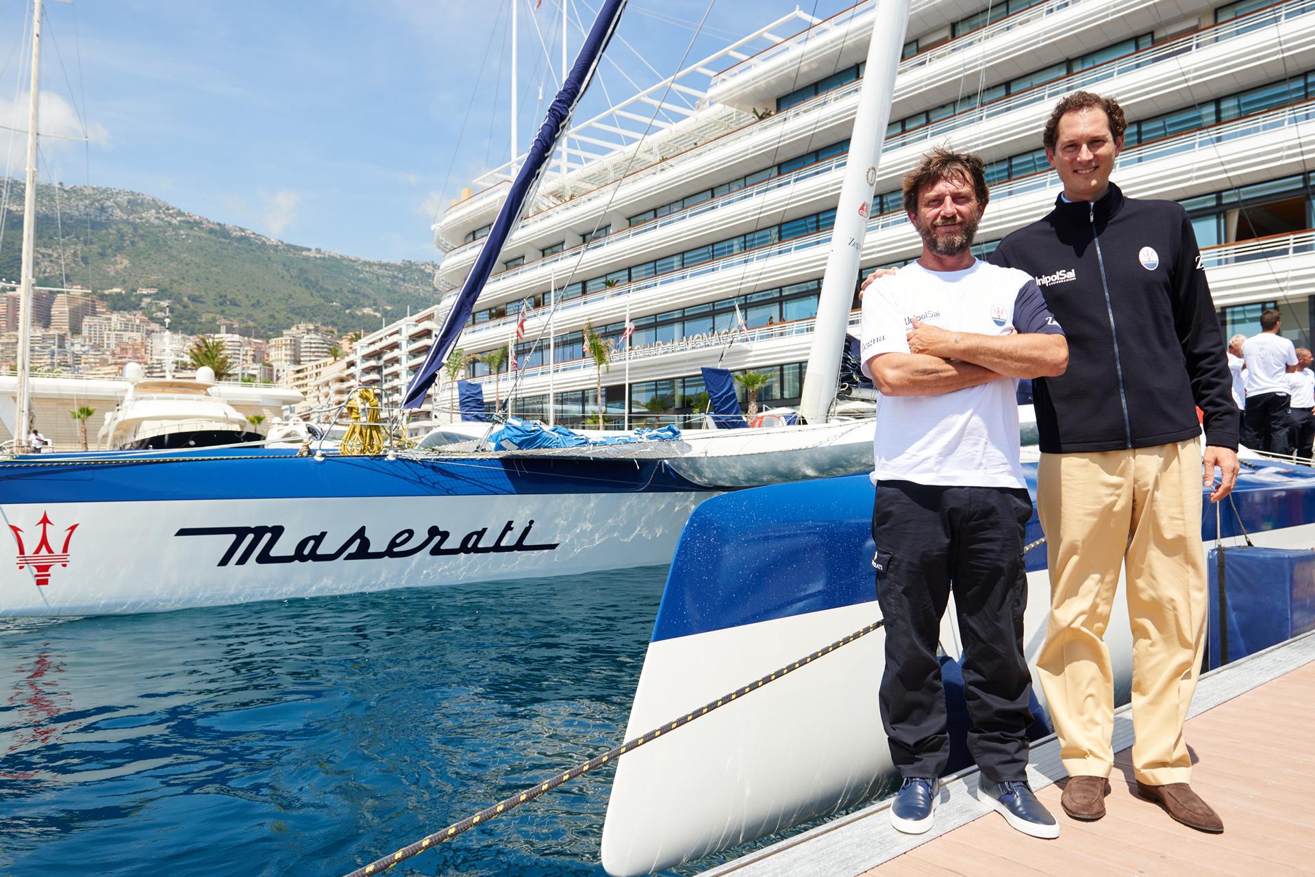 Maserati Multi70 Press Conference @Yacht Club de Monaco, Giovanni Soldini, John Elkann © Fiat Chrysler Automobiles N.V.