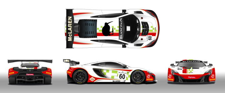 McLaren 650S GT3 to Sport Tribute Livery at 2016 Total 24 Hours of Spa