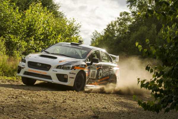Bucky Lasek maintained a smooth and consistent pace to nab a podium spot at New England Forest Rally © Fuji Heavy Industries, Ltd.