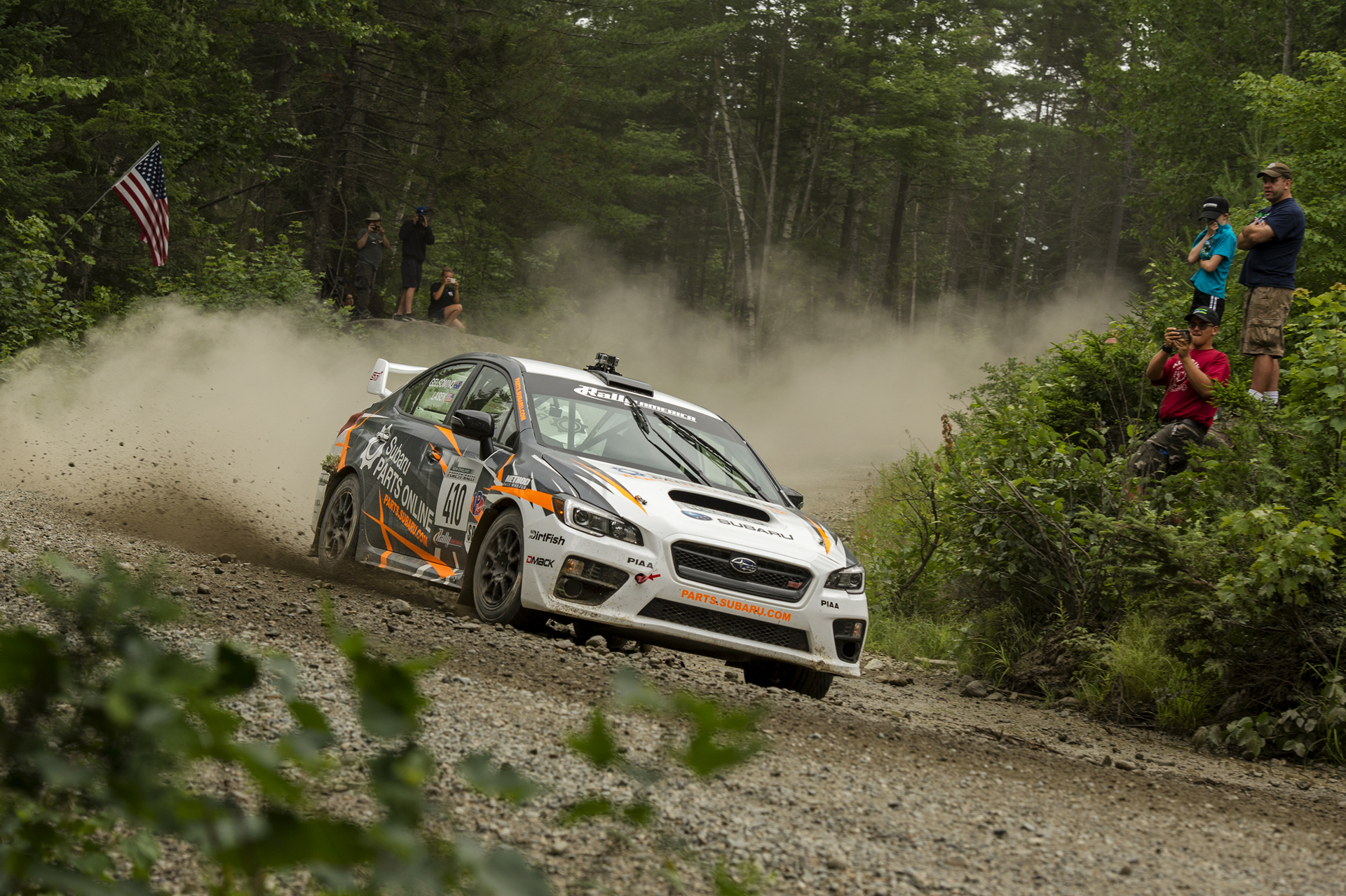 Bucky Lasek put his Subaru Parts Online WRX STI on the podium at New England Forest Rally © Fuji Heavy Industries, Ltd.