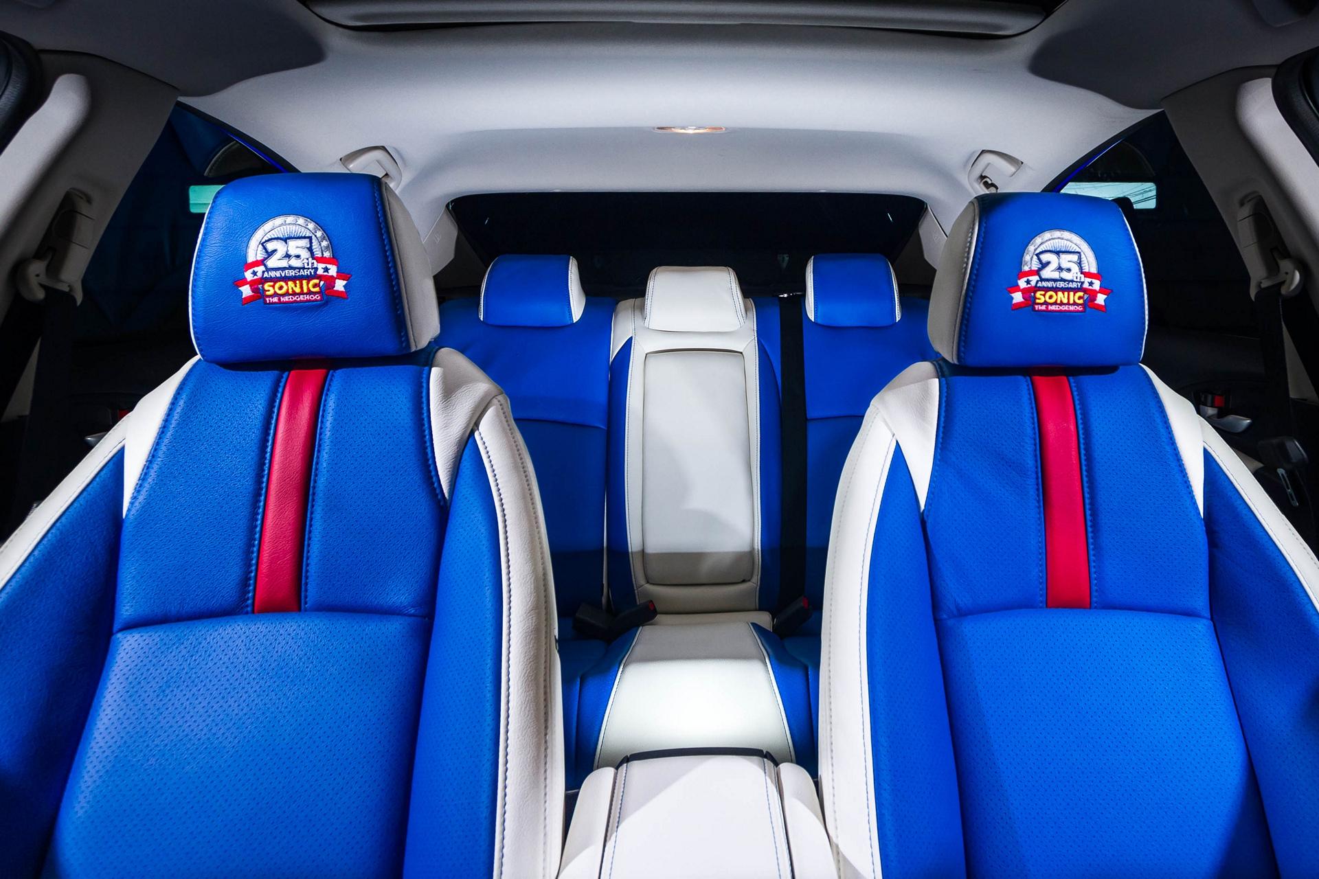 "Honda Debuts Custom-Designed ""Sonic Civic"" at Comic-Con; Joins ""Sonic the Hedgehog™"" and SEGA® in Celebrating the Iconic Game's 25th Anniversary © Honda Motor Co., Ltd."