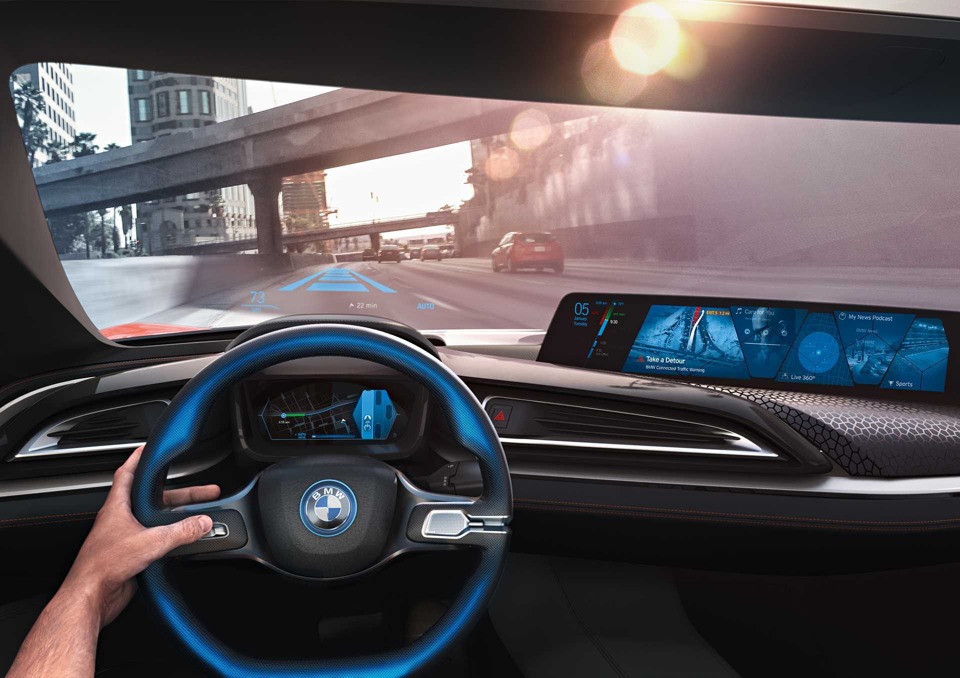 BMW i Vision Future Interaction with BMW Connected © BMW AG