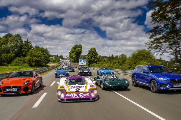 Jaguar's Past and Present Unleashed at Le Mans Classic © Tata Group
