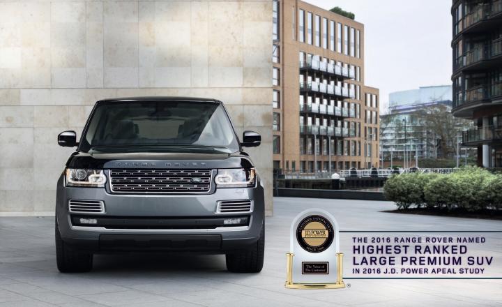Land Rover Range Rover Named Highest Ranked Large Premium SUV