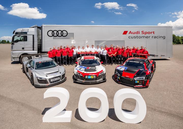Audi Produces 200th R8 LMS