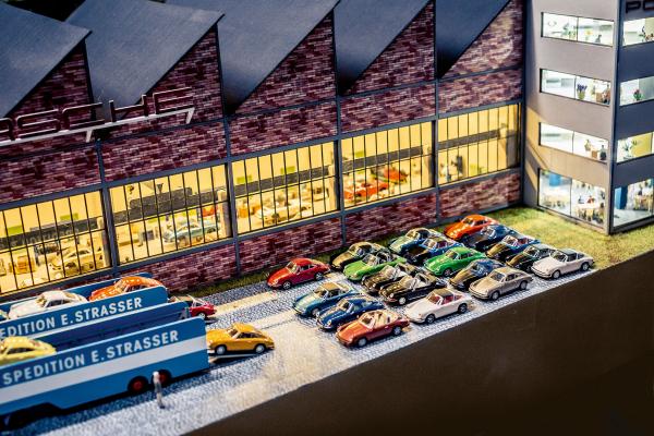911 in miniature, Porsche plant in Zuffenhausen, TraumWerk © Dr. Ing. h.c. F. Porsche AG