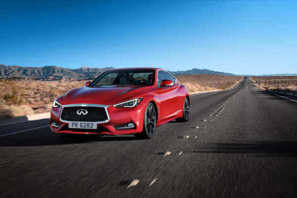 The all-new 2017 INFINITI Q60, a style leader since its original inception, offers a compelling combination of daring design and exhilarating performance and dynamics. The third-generation of INFINITI's renowned sports coupe is offered in a range of two-wheel and all-wheel drive configurations and powerplants – including the 3.0-liter V6 twin-turbo that it shares with the popular INFINITI Q50 sports sedan © Nissan Motor Co., Ltd.