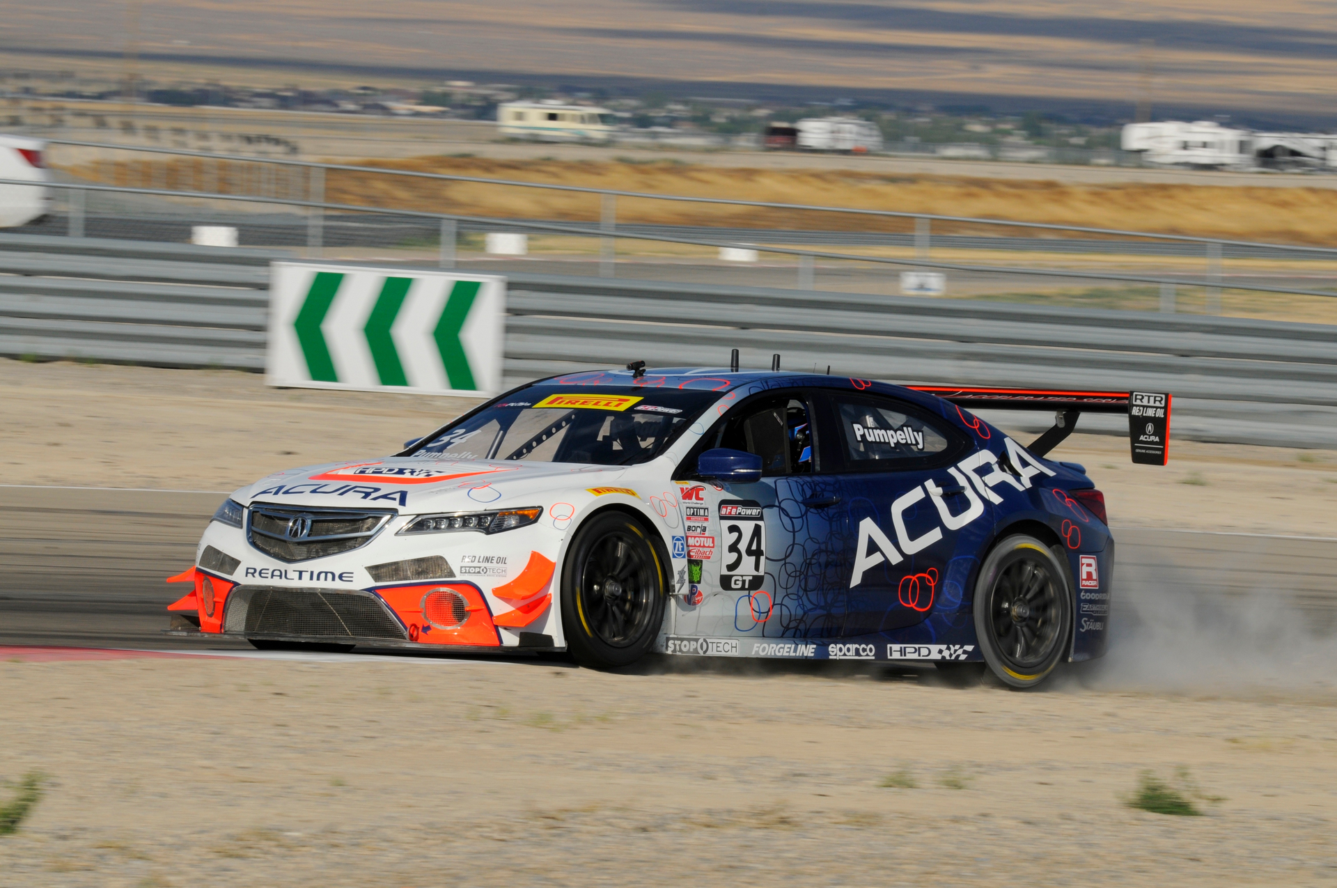 Ryan Eversley finished fourth in his RealTime Racing Acura TLX GT in Saturday's Pirelli World Challenge race at Utah Motorsports Campus © Honda Motor Co., Ltd.