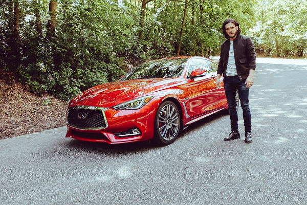 Kit Harington takes the new INFINITI Q60 for an empowered drive © Nissan Motor Co., Ltd.