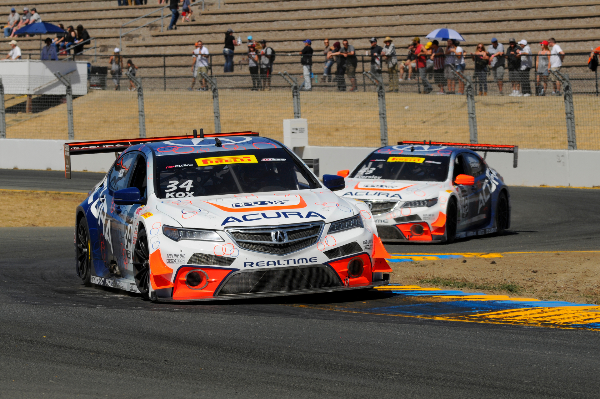 RealTime Acura TLX GTs Score a Pair of Top-10 Results In Sonoma © Honda Motor Co., Ltd.