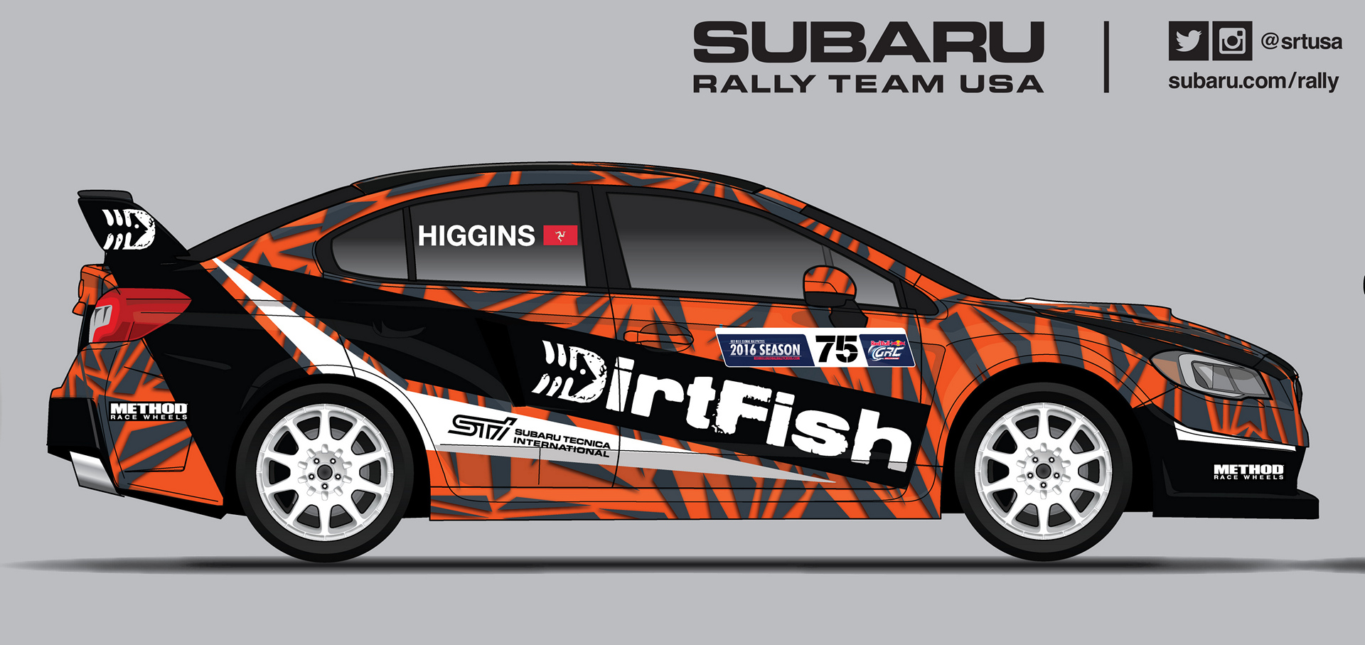 A sneak preview of the Dirtfish Subaru of David Higgins for GRC Seattle © Fuji Heavy Industries, Ltd.