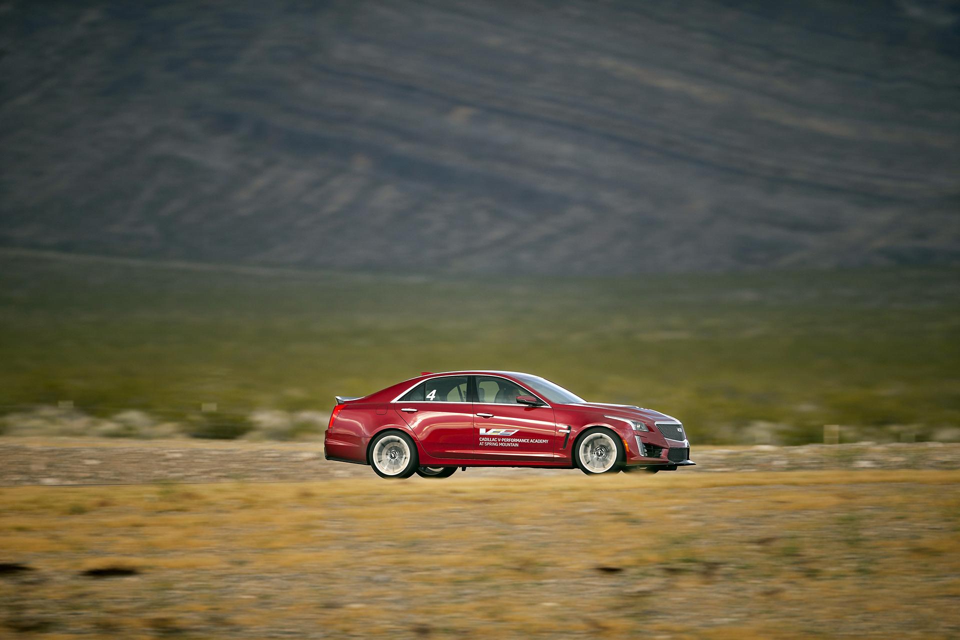 The Cadillac CTS-V at the Cadillac V-Performance Academy © General Motors