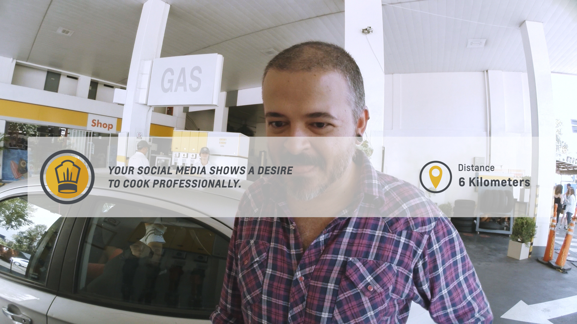 Chevrolet utilized its Global Positivity System at fuel stations in Buenos Aires © General Motors