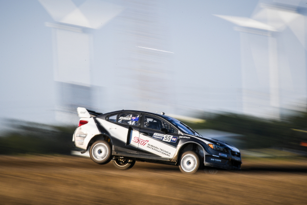 Chris Atkinson at his rallycross debut at GRC Atlantic City © Fuji Heavy Industries, Ltd.